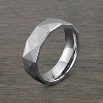 7mm Cobalt Chrome Pyramid Design Men's Ring