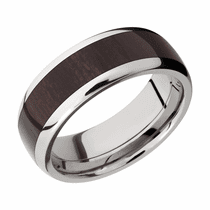 Titanium and Wendge Wood Ring by Lashbrook Designs