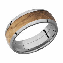 Whiskey Barrel Hardwood and Cobalt Chrome Ring by Lashbrook Designs