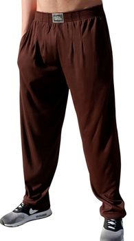 Crazee Wear Classic Relaxed Fit Baggy Pants- Brown