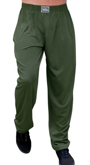 New- Crazee Wear Classic Relaxed Fit Baggy Pants- Army Green