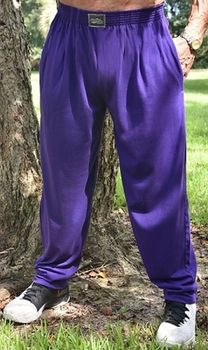Crazee Wear Classic Relaxed Fit Baggy Pants - Purple