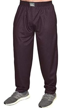 Limited Edition- Crazee Wear Classic Relaxed Fit Baggy Pants- Burgundy Park Place
