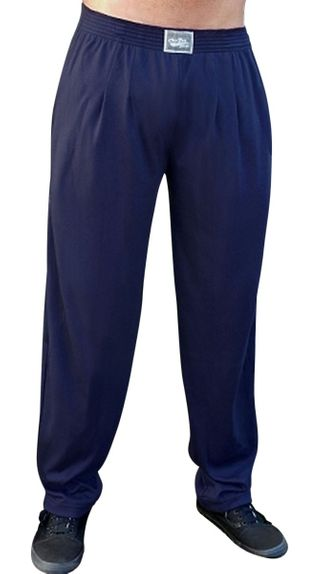 Crazee Wear Classic Relaxed Fit Baggy Pants- Navy