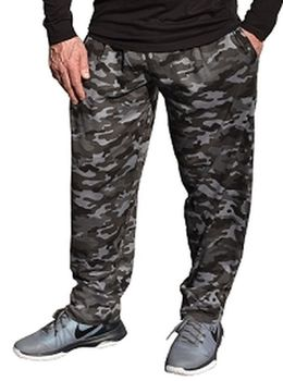 Crazee Wear Classic Relaxed Fit Baggy Pants- Urban Camo (Black Camo)