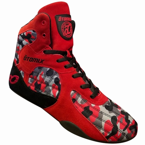 New- Otomix Red Camouflage Stingray Bodybuilding Fitness Gym Shoe- Limited Edition
