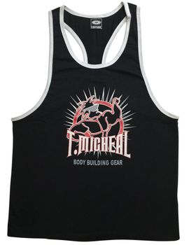"New- T. Micheal ""Mr Spike"" Premium Ringer Tank Top- #185BRinger"