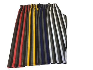 New- T. Micheal Relaxed Fit Tri-Color Striped Baggy Pants #939- Factory Direct