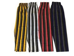 T. Micheal Relaxed Fit Tri-Color Striped Baggy Pants #939- Factory Direct