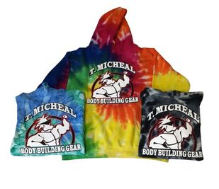 T. Micheal Tye Dye Hoodie # 209H- Factory Direct- New
