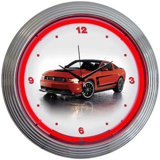 Ford Mustang Neon Clock