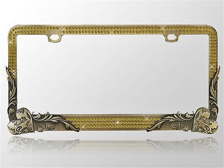 Gold Crystal License Frame