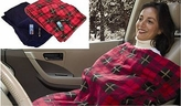 Heated Travel Blanket Plaid