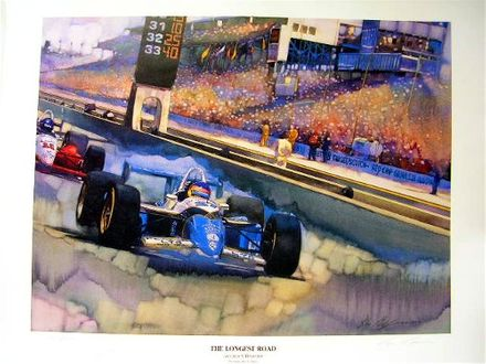 Jacques Villeneuve Signed Print