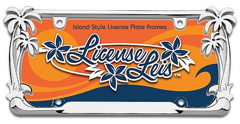 Palm Tree License Frame
