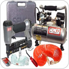 Air Compressor, Nailer and Stapler Combo Sets
