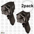 "Astro Pneumatic 1822 1/2"" NANO ONYX Shorty Pneumatic Impact Wrench 2x"