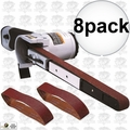"Astro Pneumatic 3037 1/2"" x 18"" Air Belt Sander with 40/60/80-Grit Belts 8x"