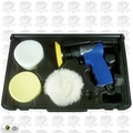 "Astro Pneumatic 3055 3"" Mini Air Polishing Kit with Pads & Case"