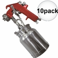 Astro Pneumatic 4008 10x Spray Gun with Cup - Red Handle 1.8mm Nozzle