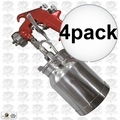 Astro Pneumatic 4008 Spray Gun with Cup - Red Handle 1.8mm Nozzle 4x