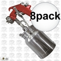 Astro Pneumatic 4008 Spray Gun with Cup - Red Handle 1.8mm Nozzle 8x