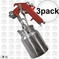 Astro Pneumatic 4008 Spray Gun with Cup - Red Handle 1.8mm Nozzle 3x