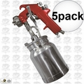 Astro Pneumatic 4008 Spray Gun with Cup - Red Handle 1.8mm Nozzle 5x