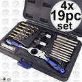 Astro Pneumatic 7580 Automotive Drill + Tap Set - SAE 4x