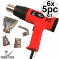 Astro Pneumatic 9425 Dual Temperature Heat Gun Kit  6x