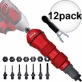"Astro Pneumatic ADN38 XL Rivet Drill Adapter Kit 3/8"" Cap. Drill Powered 12x"