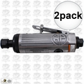 "Astro Pneumatic T210 1/4"" Pneumatic Air Die Grinder w. Safety Lever 2x"