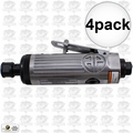 "Astro Pneumatic T210 1/4"" Pneumatic Air Die Grinder w. Safety Lever 4x"