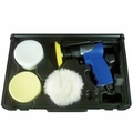 "Astro Pneumatic Tool 3055 3"" Mini Air Polishing Kit with Pads & Case"