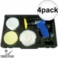 "Astro Pneumatic Tool 3055 3"" Mini Air Polishing Kit with Pads + Case 4x"