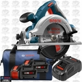 Bosch CCS180-B14 18V 6-1/2 In. Circular Saw Kit with 2x CORE18V Battery