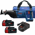 Bosch CRS180-B14 18V 1-1/8 In. Reciprocating Saw Kit w/ 2 CORE18V Battery