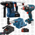 """Bosch GBH18V-26K24 18V 1"""" SDS-Plus Hammer w/ Dust Collection+Impact"""