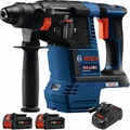 "Bosch GBH18V-26K24 18V 1"" SDS-Plus Rotary Hammer Kit w/2 6.3 Ah Batts"