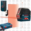 Bosch GCL2-160-LR6 Self-Leveling Cross-Line Laser w/ Plumb Points & L-Boxx Case