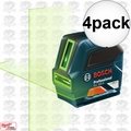 Bosch GLL 100 G Self-Leveling GREEN-BEAM Cross-Line Laser 4x
