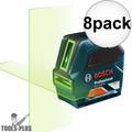 Bosch GLL 100 G Self-Leveling GREEN-BEAM Cross-Line Laser 8x