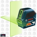 Bosch GLL100G Self-Leveling GREEN-BEAM Cross-Line Laser