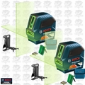 Bosch GLL 100 GX-RT Recon Self-Leveling GREEN-BEAM Cross-Line Laser 2x
