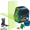 Bosch GLL 100 GX-RT Self-Leveling GREEN-BEAM Cross-Line Laser w/Mounting KIT