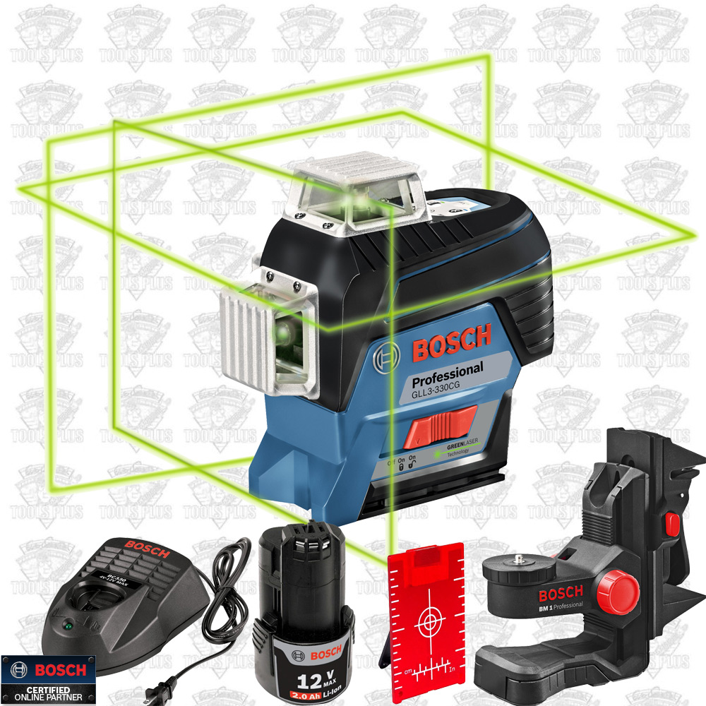 Bosch GLL3-330CG 360° Connected Three-Plane Leveling + Alignment-Line Laser 88eb817609b8