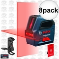 Bosch GLL50-RT Self-Leveling Cross-Line Laser Kit 8x