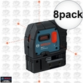 Bosch GPL5-RT 5-Point Class II 1mW Self-Leveling Alignment Laser 8x