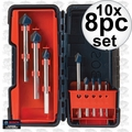 Bosch GT3000 8pc Glass & Tile Bit Set 10x