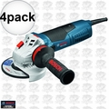 "Bosch GWS13-50VS 11 Amp 5"" Variable Speed Angle Grinder 4x"